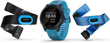 Garmin Forerunner 945 Blau/Schiefer Triathlon-Bundle