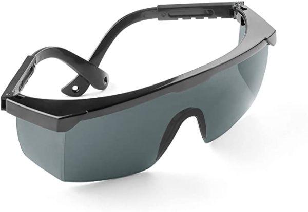 Schutzbrille für UV, HPL, IPL, LED & Rotlicht, verstellbar mit Seitenschutz vom Fitness-/Navi-Fachhändler uvprot